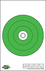 "RD02 - Red Dot Optics Style 2: 10"" of EZ2C Green Bullseye"