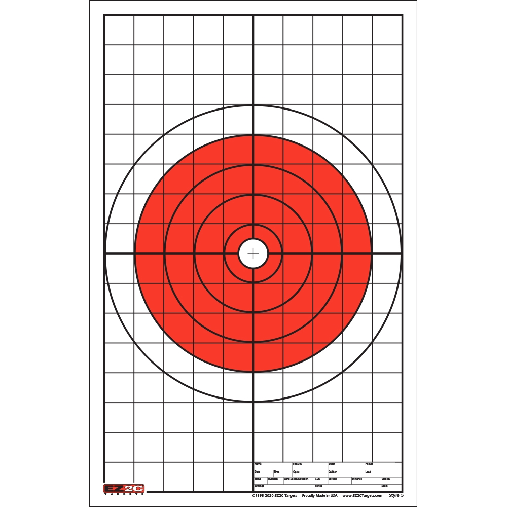 200 EZ2C Targets Eight Great Rifle Styles