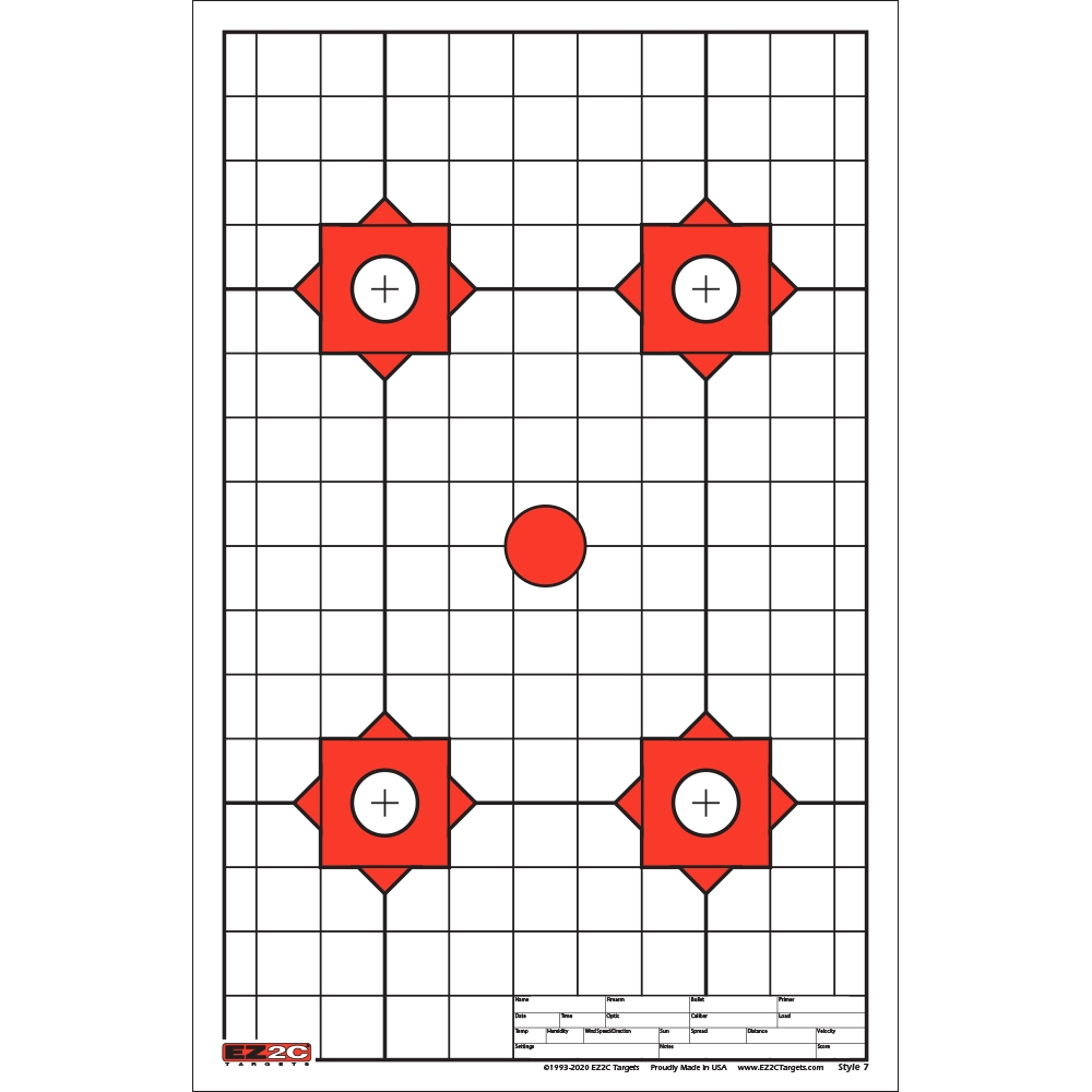 Style 7: Four Targets & Sight in Circle