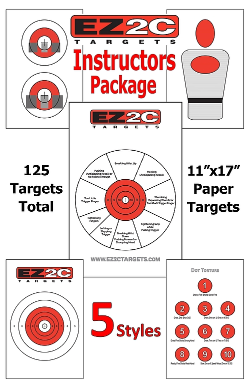 125 EZ2C Targets Instructors Package Five Styles