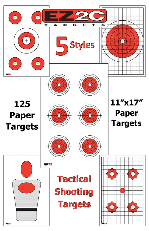 125 EZ2C Targets Five Great Tactical Styles