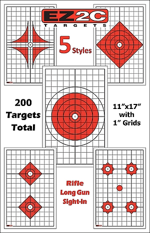 200 EZ2C Targets Five Rifle-Styles