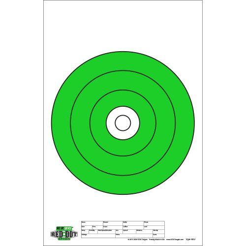 "Red Dot Optics Style 2: 10"" of EZ2C Green Bullseye"